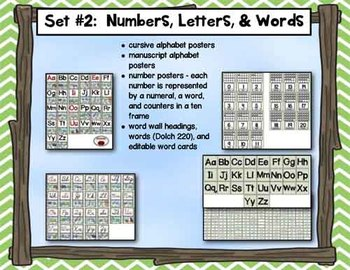 Alphabet and Number Posters and a Complete Word Wall Set - Frog Theme