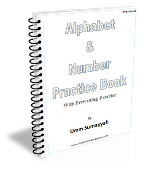 Alphabet and Number Practice Book with Prewriting Practice