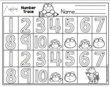Alphabet and Number Practice for Bulletin Board