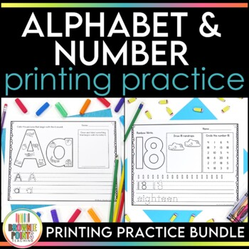 Alphabet and Number Printing {BUNDLE}