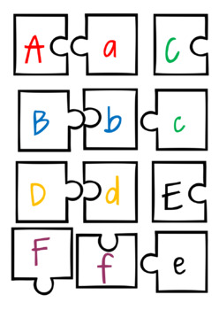 Alphabet and Number Puzzle Matching