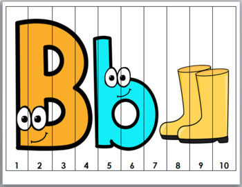 Alphabet Letters and Number Puzzles 1-10