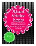 Alphabet and Number Puzzles CCS ALIGNED!
