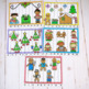 Alphabet and Number Puzzles Holiday Themed