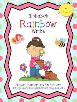 Alphabet and Number Rainbow Write