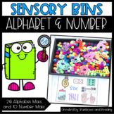 Alphabet and Number Sensory Bins