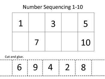 Alphabet and Number Sequencing Pages