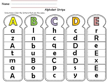 Alphabet and Number Strips