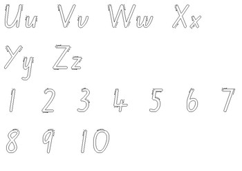Alphabet and Number Tracer