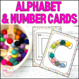 Alphabet and Number Tracing Flash Cards
