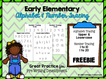 Alphabet and Number Tracing for Early Elementary