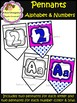 Alphabet and Numbers(0 - 9) - Pennants (School Designhcf)