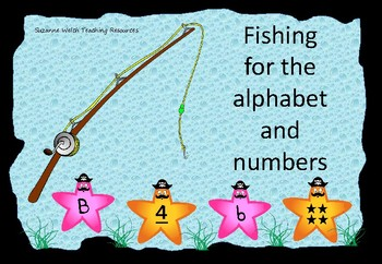 Alphabet and Numbers 1-10  -  Fishing Game