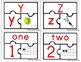 Alphabet and Numbers 1-10 Puzzle Matching!
