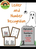 Alphabet and Numbers 1-10 Recognition - Halloween