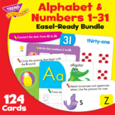 Alphabet & Numbers 1-31 Activity Cards Practice Bundle | P