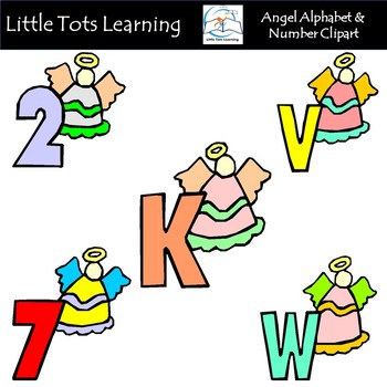 Alphabet and Numbers Clip Art - Angel Alphabet and Numbers Clip Art