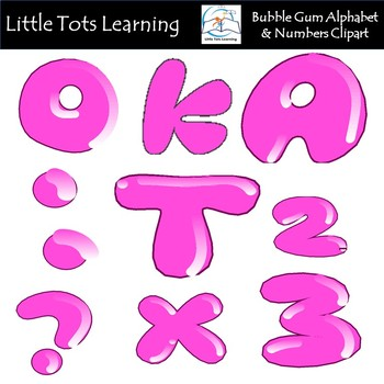 Alphabet and Numbers Clip Art - Pink Balloon Alphabet and Numbers Clip Art