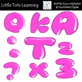 Alphabet and Numbers Clip Art - Pink Balloon Alphabet and
