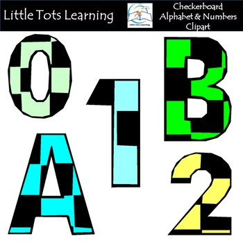 Alphabet and Numbers Clip Art - Checkers Alphabet and Numbers Clip Art