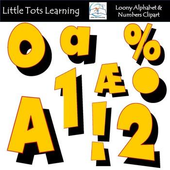 Alphabet and Numbers Clip Art - Retro Alphabet and Numbers Clip Art