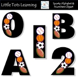 Alphabet and Numbers Clip Art - Sports Alphabet and Number
