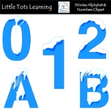 Alphabet and Numbers Clip Art - Winter Alphabet and Number
