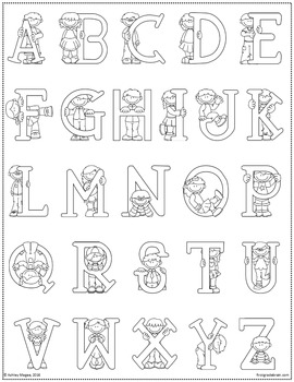 Alphabet and Numbers Coloring Sheet Freebie!