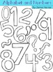 Alphabet and Numbers Doodle Clipart - Blackline