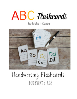 Alphabet and Numbers Handwriting Flashcards ABC 123