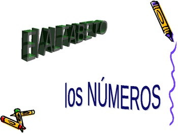 Alphabet and Numbers PPT practice