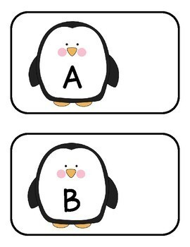 Penguin Alphabet and Numbers