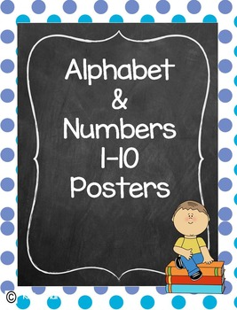 Alphabet and Numbers Polka Dot Poster Set