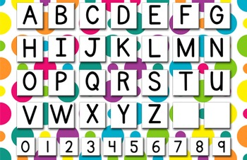 Alphabet and Numbers Poster FREEBIE!