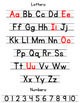 Alphabet and Numbers Reference Page