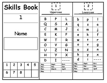 Alphabet and Numbers Skills Book