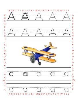 Alphabet and Numbers Tracing Worksheets in French