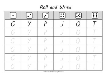 New Zealand Alphabet and Numbers – 'Roll and Write' Activity