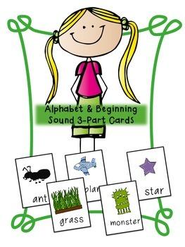 Alphabet and Phonemic Awareness 3-part Cards