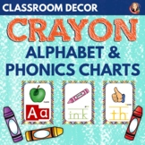 Alphabet and Phonics Anchor Charts in Crayon Theme