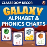 Alphabet and Phonics Anchor Charts in Galaxy Space Theme