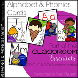 Alphabet and Phonics Cards - Bright and Bold