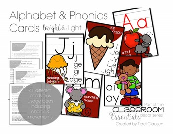 Alphabet and Phonics Cards - Red and Black