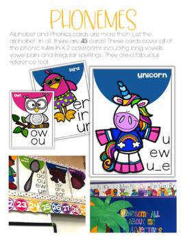 Alphabet and Phonics Cards - Vanilla Sherbet