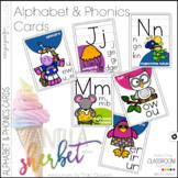 Alphabet Cards and Phonics Cards - Vanilla Sherbet