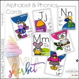 Alphabet Cards and Phonics Cards - Vanilla Sherbet