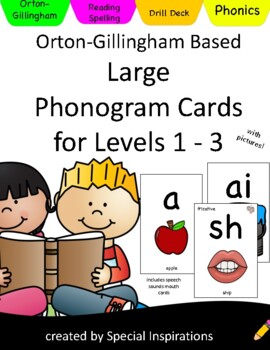 Orton- Gillingham Alphabet and Phonics Drill Cards with Pictures