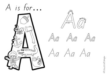 Alphabet and Phonics Letter Book - QLD Beginners Font
