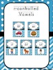 Alphabet and Phonics Letter Sounds Posters: Blue Chevron and Polka Dot Theme