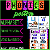 Alphabet and Phonics Posters - Color and Black and White
